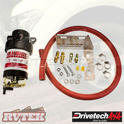Drivetech Fuel Manager Pre Filter And Bracket Fits Toyota 200 Series Landcruiser