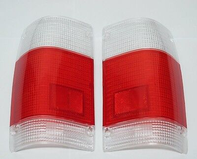 Tail Light Clear-Red Lenses Pair For MAZDA B2000 B2200 B2600 1985-1995