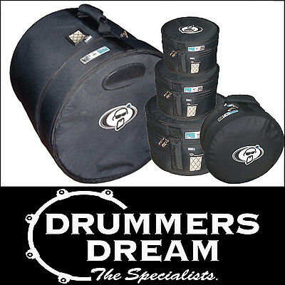 "Protection Racket Drum Case Bag Set 5pce Fusion Sizes 22"" 10"" 12"" 14"" 14"" Snare"