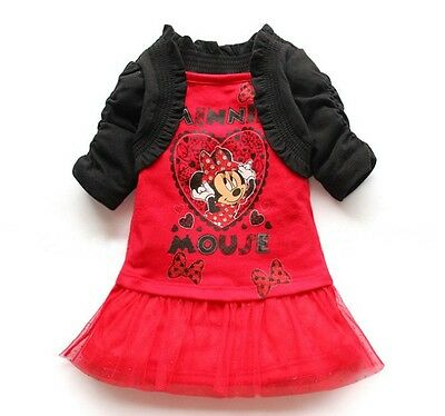 New Girl Minnie Mouse Dress Top Cotton size 1-7 years