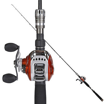 Baitcasting Combo Adjustable Size 6.5-7.8ft Rod with Casting Reel Bass Fishing
