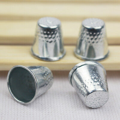 10pc Dressmakers Vintage Metal Finger Thimble Protector Sewing Neddle Shield AT