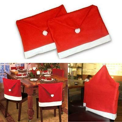 Red Santa Claus Christmas Dinner Table Chair Cover Home Party Decoration Gift