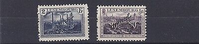 Luxembourg  1922 - 34    Sg 0263 - 0264  1F + 2F Officials   Mh  Cat £60