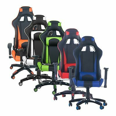 Merax High Back PU Leather Racing Style Gaming Chair Race Car Seat Computer Desk
