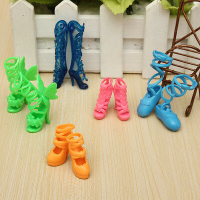 10pcs Different Fashion Special Design High Heel Shoes For Barbie Doll Gift NEW