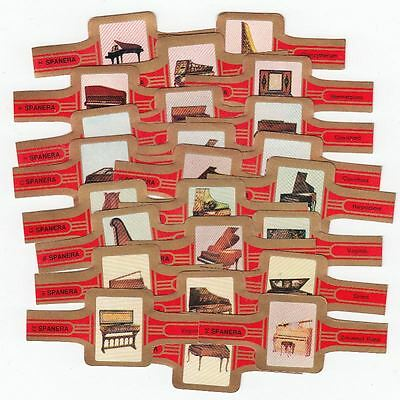 24 cigar bands Span Piano red iss in