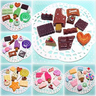 Mixed Flatback Resin / Clay Fake Sweets Candy Chocolate Cabochons Decoden Crafts