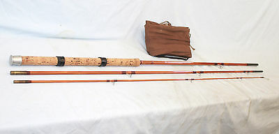"""11'-0 Milwards the """"FLOATROVER"""" hollow built Match fishing rod 3 piece VERY FINE"""