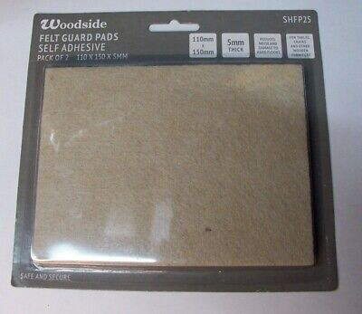 Large Felt Guard Pads for Furniture Self Adhesive Pack of 2 110mm x 150mm x 5mm