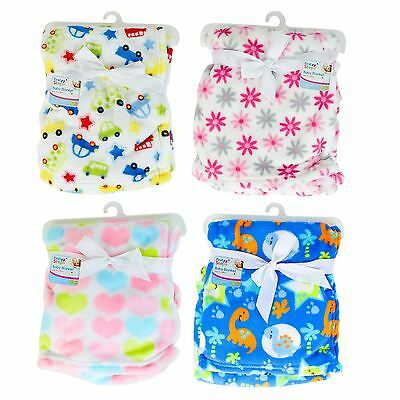First Steps Supersoft Fleece Baby Cot Blankets 75 x 100cm