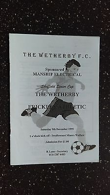 The Wetherby V Frickley Athletic 1995-96
