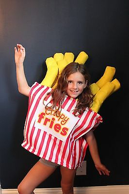 Boutique Kids Crispy French Fries Costume One Size Halloween Boys Girls NEW