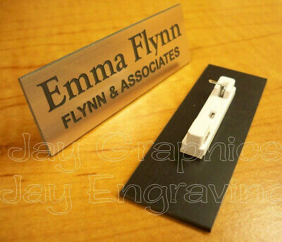 Custom Engraved 1x3 Copper Name Tag | Badge & Pin | Employee Personalized ID