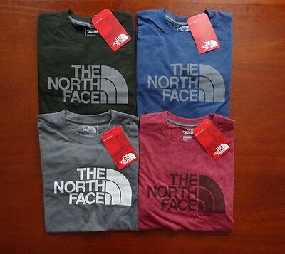 North Face Men's Long Sleeve Half Dome Tee NWT New Fall 2016 Line