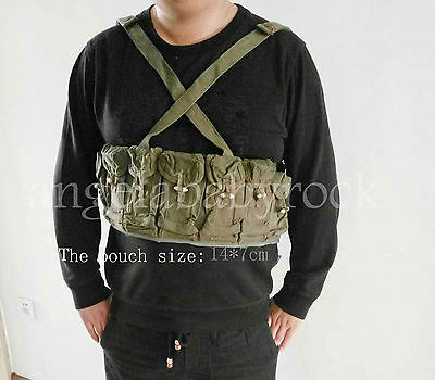 Chinese Surplus Sks Rife 7.62X39 7 Seven Pocket M-63 Chest Rig Ammo Pouch-0322