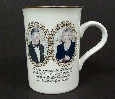 Prince Charles & Camilla Parker Bowles Wedding Mug 8Th April 2005 Wrong Date