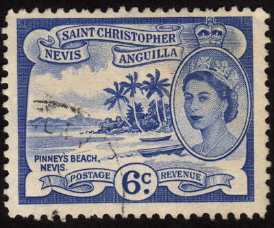 1954 St. Christopher Nevis Anguilla 6c, Used