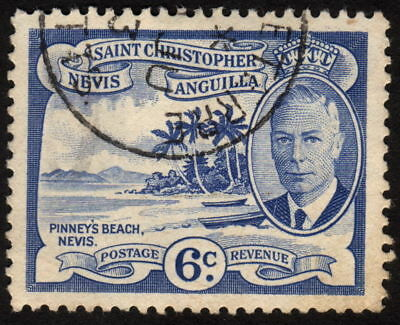 1952 St. Christopher Nevis Anguilla 6c, Used