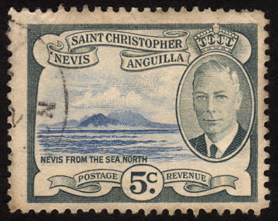 1952 St. Christopher Nevis Anguilla 5c, Used
