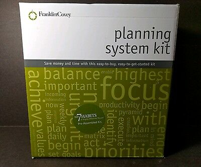 Franklin Covey 7 Habits of Highly Effective People Assembled Planning System Kit