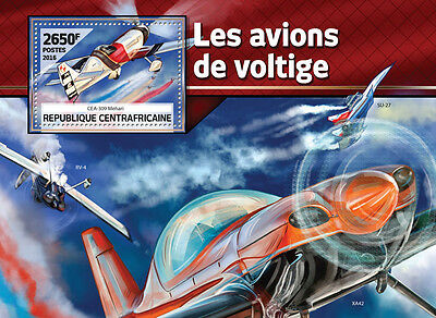 Central African Rep 2016 MNH Aerobatic Planes 1v S/S Aircraft Aviation Stamps