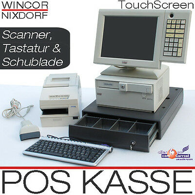 Pos till TFT Touchscreen Pos Monitor Receipt Printer Scanner Drawer Keyboard