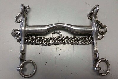 """Used Stainless Steel Weymouth (Curb) Bit - Size 5.25"""""""