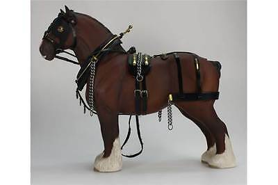 Beswick FULL Harnessed Shire Horse Burnham Beauty 2309 Matt Brown