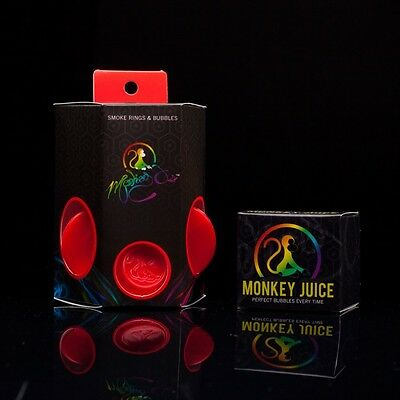 Monkey O's Smoke Ring Maker and Bubble Blower with Monkey Juice - Red