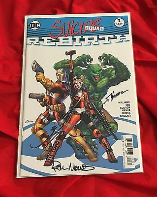 Suicide Squad Rebirth #1~Signed By Scott Hanna+Jonathan Glapion+Paul Mounts~B