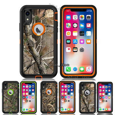 For iPhone Xr Case [Clip Fits Otterbox Defender] Holster iPhonexr Camo