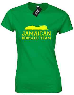 Jamaican Bobsled Team Ladies T Shirt Funny Cool Runnings Design New Quality