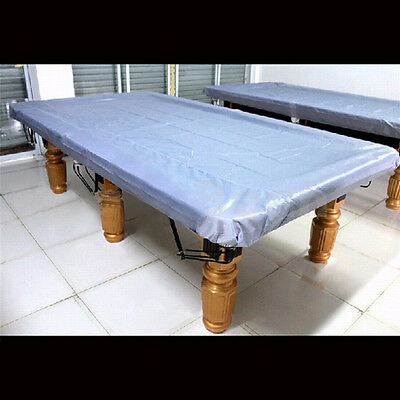 9 ' ft Foot Fitted Heavy Duty Dustproof Pool Snooker Billiard Table Cover White