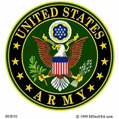 US Army Logo Decal Window Sticker 4""