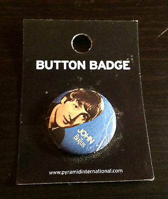 Beatles Early John Lennon badge from 2008 - . Made in the UK 25 mm dia