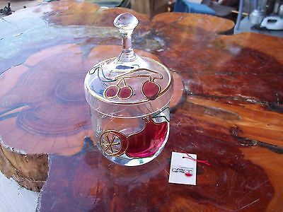 Hand Blown Covered Sugar Bowl by Nagel West Germany w/Tag