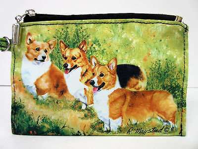 New Welsh Corgi Dog Zippered Pouch By Ruth Maystead 3 Corgis Dogs