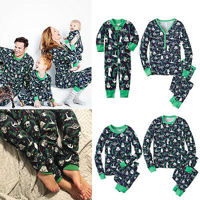 Adult Baby Kids Family Matching Christmas Pajamas Set Sleepwear Nightwear Pj's
