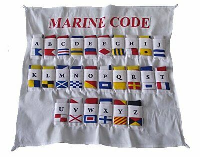 Naval Signal Flags/ Flag SET- Set of Total 26 flag - Marine Code with CASE COVER