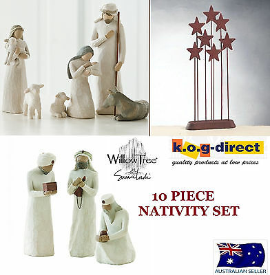 10 PIECE NATIVITY Demdaco Willow Tree Figurine By Susan Lordi NEW IN BOX