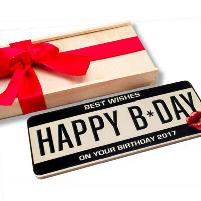 New Birthday Number Plates chocogram gifts him her christmas