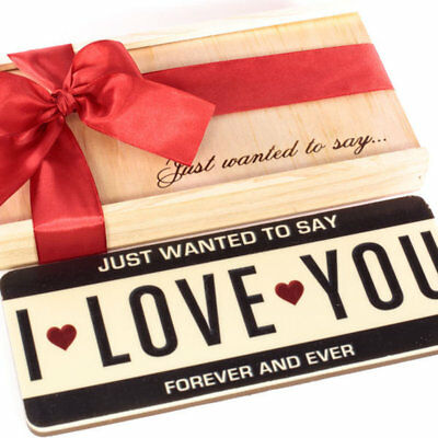New I Love You Plates chocogram gifts him her christmas