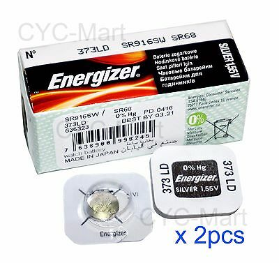 2 pcs Energizer 373 SR916SW Silver Oxide Watch Battery Japan Made FREE POST WW
