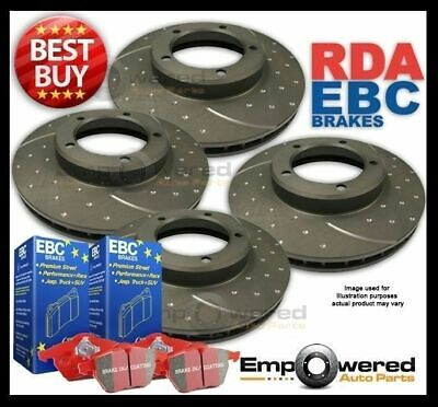 FULL SET DIMPLED SLOTTED DISC BRAKE ROTORS+PADS for Toyota  MA70R 3.0L Turbo