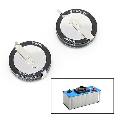 2 Pcs 4.0F 5.5 V Super Capacitor H-Type Button Smart Capacitance Universal