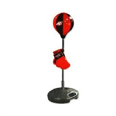 NEW Junior Sport Speed Ball Stand - Adjustable Punching Ball Toy w/ Boxing Glove