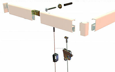 STAS Cliprail pro cobra clear Gallery Picture Hanging system Clip Rail 30KG