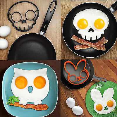 Breakfast Fried Egg Mold Silicone Pancake Egg Ring Shaper Funny Cooking Tool HX