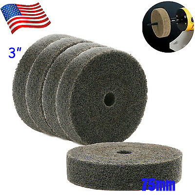 "US 5x 3""Nylon Fiber Round Abrasive Polishing Buffing Wheel Disc Buffing Pad 75mm"